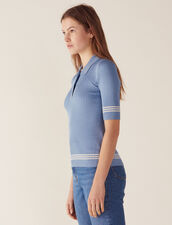 Polo Style Sweater : null color Blue Jean