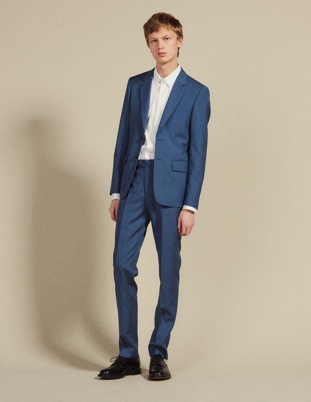 Wool Suit Trousers : LastChance-FR-H50 color Bluish Grey