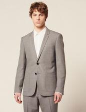 Piqué Wool Suit Jacket : Sélection Last Chance color Light Grey