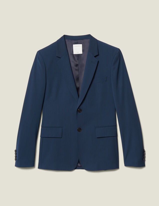 Classic Super 110 Suit Jacket : New Collection color Petrol