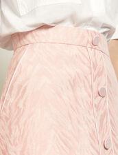 Short striped jacquard skirt : Skirts & Shorts color Pink