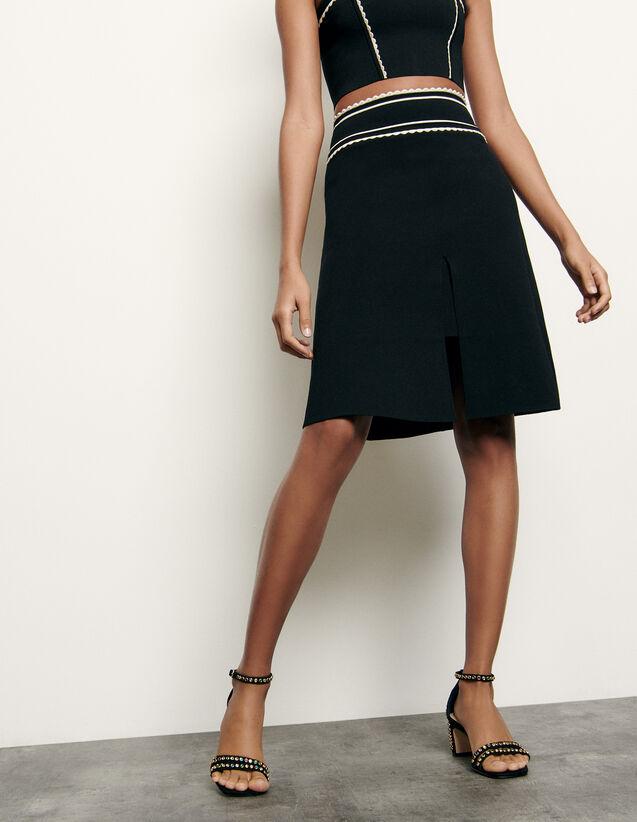Short knit skirt : Summer Collection color Black
