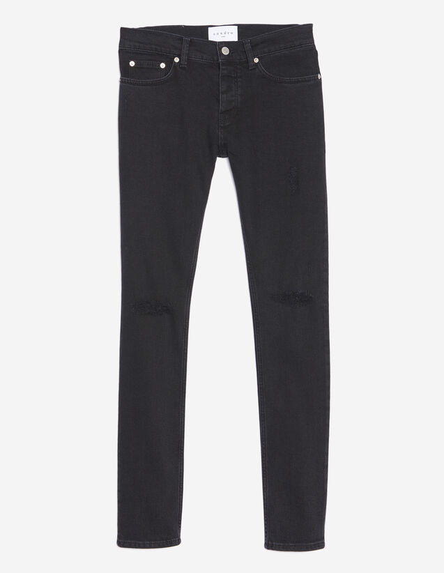 Black Destroy Jeans - Skinny Cut : All selection color Black
