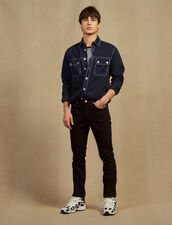 Narrow Cotton Canvas Jeans : All selection color Black
