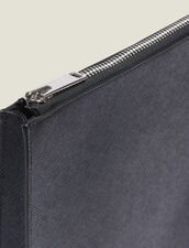 Saffiano Leather Zipped Document Case : Summer Collection color Black