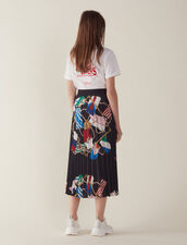 Printed Skirt With Pleats : Skirts & Shorts color Black