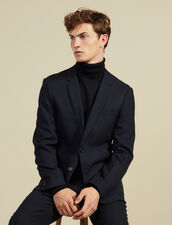Slim-Fit Wool Suit Jacket : Suits & Tuxedos color Navy Blue