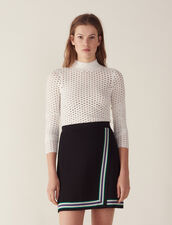 Wraparound-Style Knit Skirt : null color Black