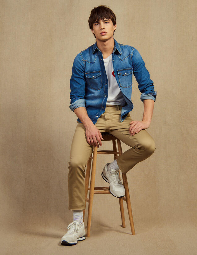 Straight-Leg Chino Trousers : Sélection Last Chance color Beige