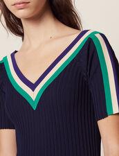 Long Sportswear Knit Dress : null color Navy Blue