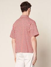 Chequerboard Shirt In Japanese Fabric : Summer Collection color Black