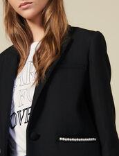 Blazer jacket embellished with beads : LastChance-ES-F40 color Black