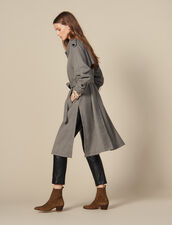 Trench coat with side slits : All Selection color Brown