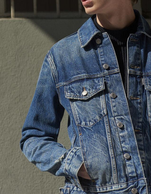 Vintage-style denim jacket : All Selection color Blue Vintage - Denim