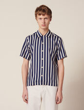 Shirt With Contrasting Stripes : Sélection Last Chance color Navy Blue