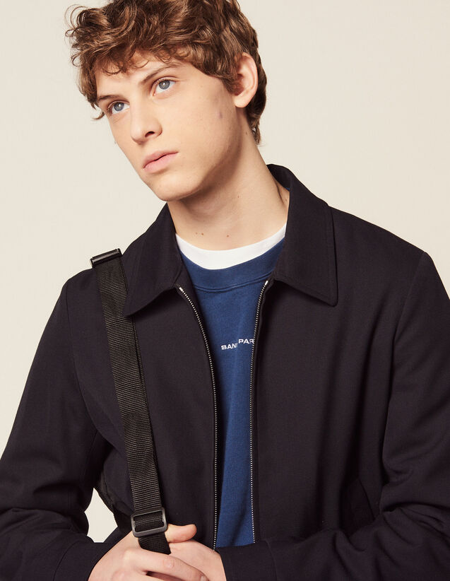 Harrington-Style Jacket : Blazers & Jackets color Navy Blue