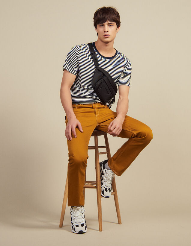 Cotton Canvas Trousers : Pants & Shorts color Ochre