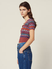 Wrapover Knit Top : Tops & Shirts color Terracotta