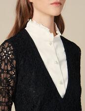 Short Dress With Trompe L Oeil Effect : LastChance-ES-F50 color Black