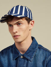 Cap With Contrasting Stripes : Summer suitcase color Blue