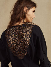 T-Shirt With Lace Back : T-shirts color Ecru