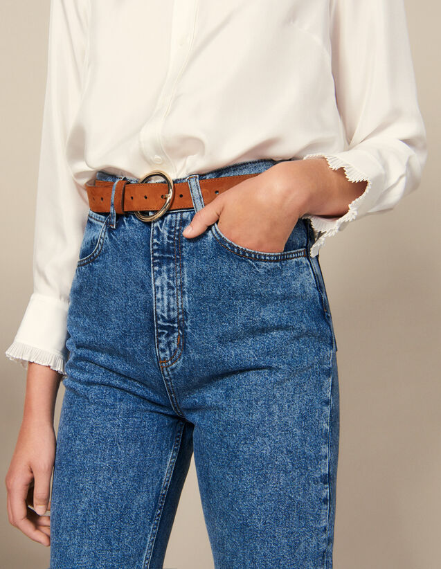 Leather Belt : Belts color Dark Navy