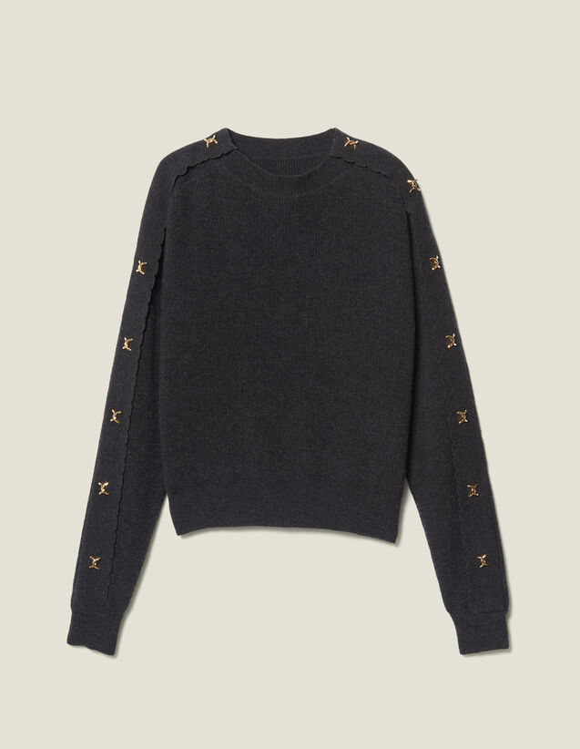 Sweater With Jewelled Buttons by Sandro Paris