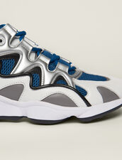Material Mix Sneakers : Shoes color Blue