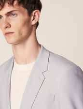 Wool Suit Jacket : Suits & Tuxedos color Putty