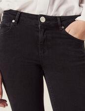 Slim Jeans With Regular Waist : Jeans color Black