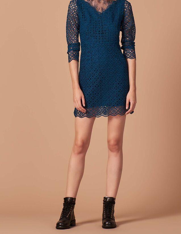 af971e7d42f1 Guipure and lace dress   FBlackFriday-DE-FRobes color Petrol