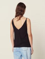Vest Top With Front Panel : T-shirts color Black
