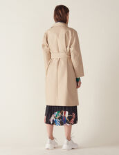 Trench Coat With Trompe L'Œil Effect : null color Beige