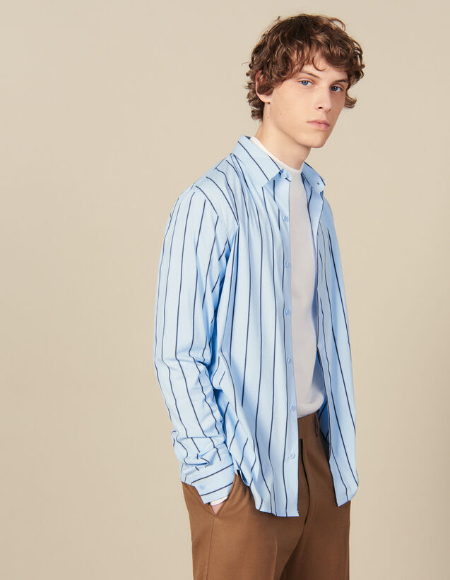 Striped Shirt : Winter Collection color BLUE / BLACK