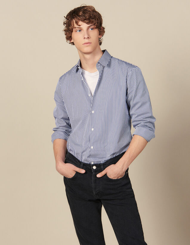 Striped Shirt : Winter Collection color Navy/White