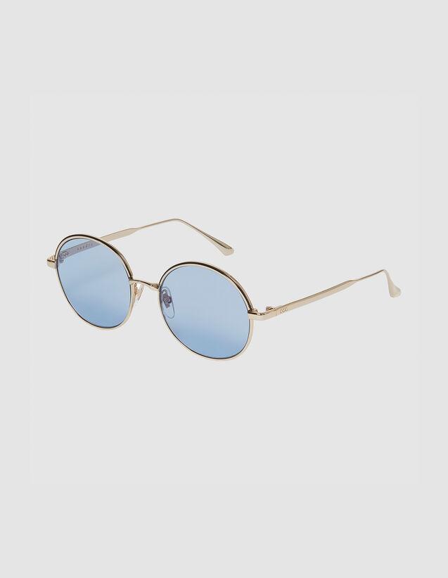Round Sunglasses : Sunglasses color Doré/Noir