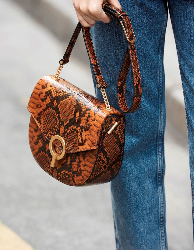 Pépita Bag : New In color PYTHON CAMEL