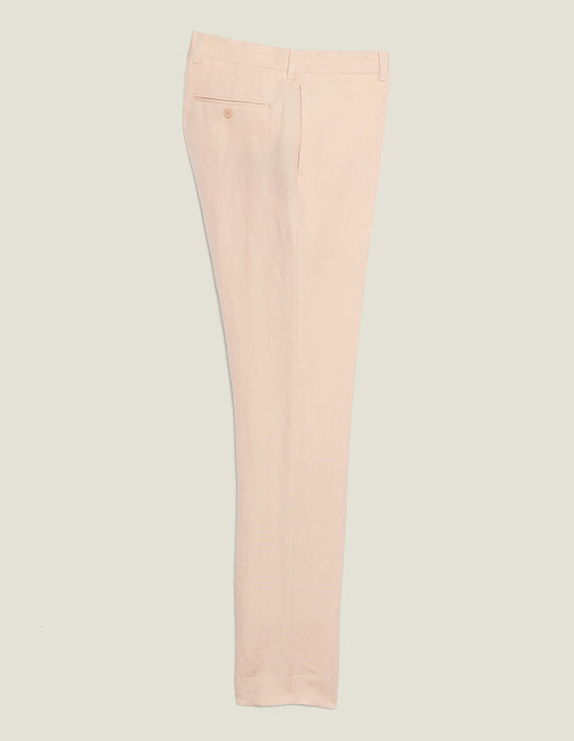Linen Blend Suit Trousers : Suits & Tuxedos color Light pink