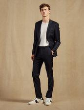 Wool Suit Trousers : Sélection Last Chance color Pétrol Blue
