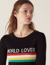 Sweater With Coloured Stripes : null color Black