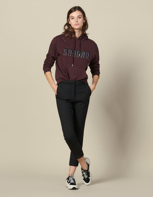 Plain Darted Trousers : Pants color Black
