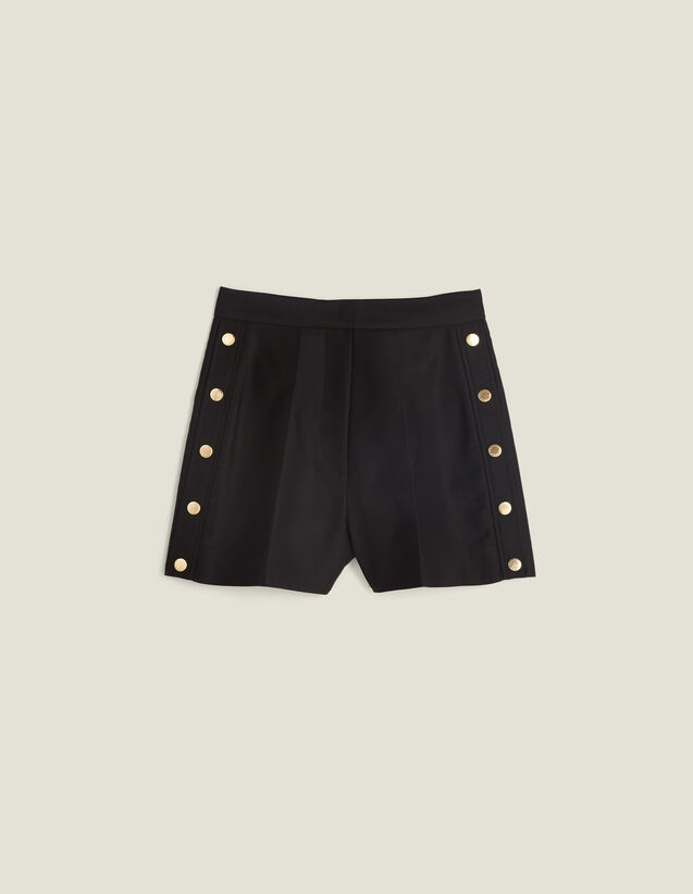 Shorts With Press Studs : Skirts & Shorts color Black