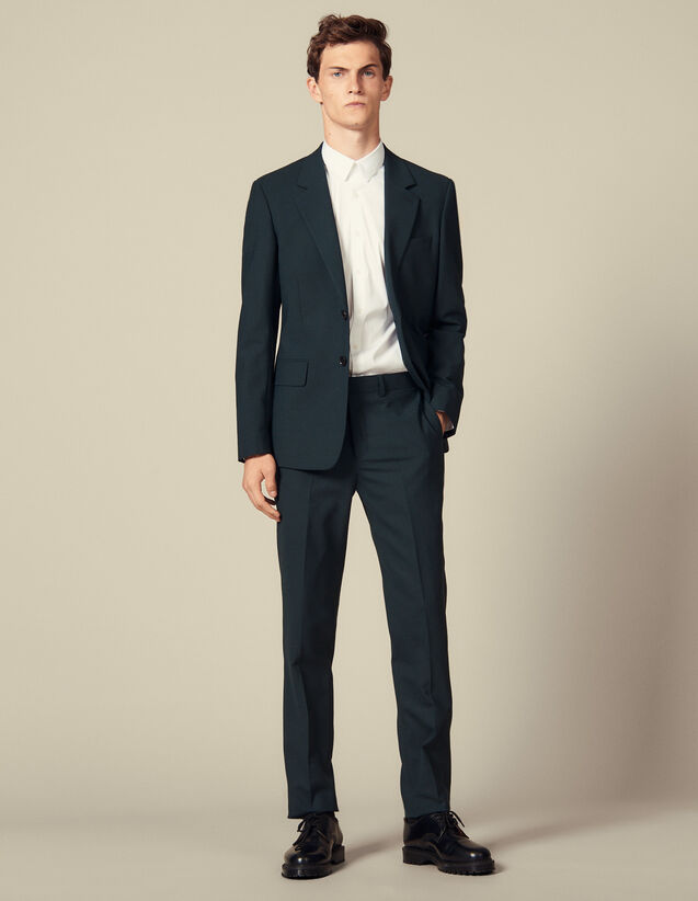 Suit trousers : Suits & Tuxedos color Dark green
