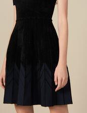 Short Knit Dress : LastChance-ES-F40 color Black
