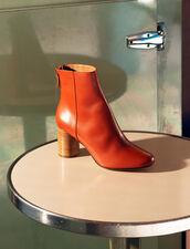 Leather Ankle Boots : LastChance-FR-FSelection color Rust