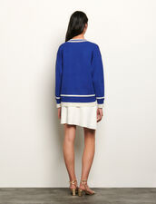 Oversized sweater with patch : Sweaters & Cardigans color Blue