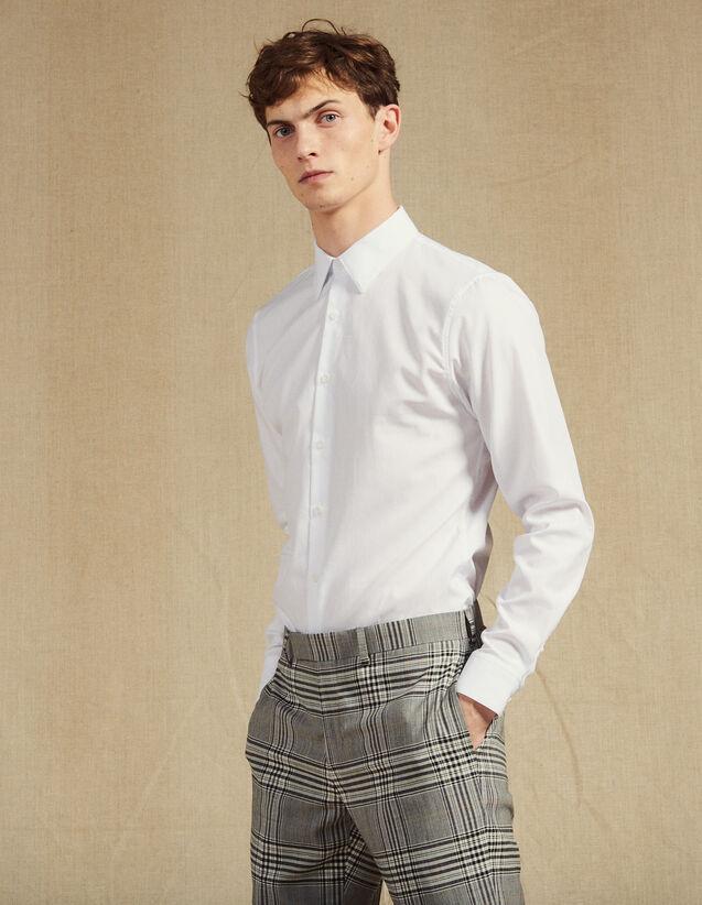 Formal Oxford Shirt : SOLDES-CH-HSelection-PAP&ACCESS-2DEM color white