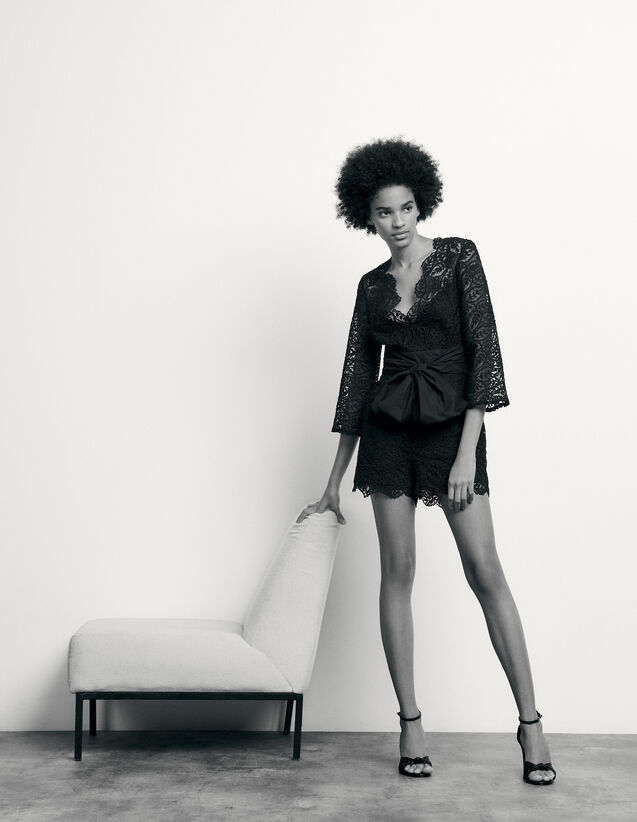 Lace playsuit : Summer Collection color Black