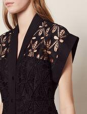 Short Guipure Dress : Dresses color Black