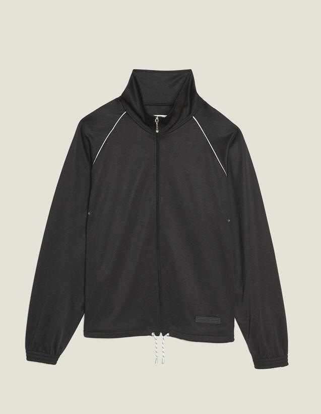 Track Top : Sweatshirts color Black